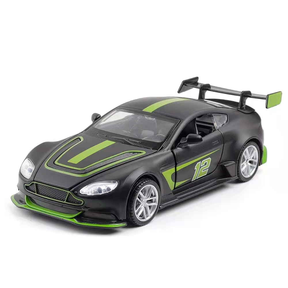 1:32 Aston Martin GT3 alloy sports car model decoration force control toy gift collection