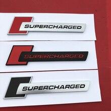 Rot Schwarz Diamant Block Abzeichen Bar Text Emblem für Audi SUPERCHARGED A4 A5 A6L Q3 Q5 Q7 Auto Styling Stamm fender Logo Aufkleber