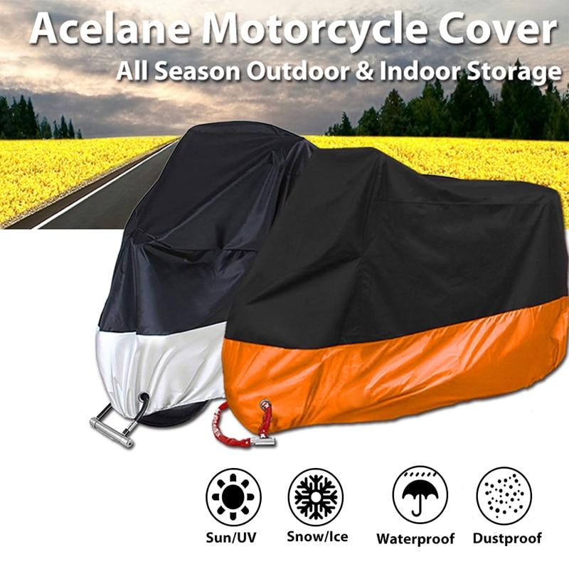 M L XL 2XL 3XL 4XL دراجة نارية اكسسوارات غطاء العالمي كل موسم مقاوم للماء دراجة المطر الغبار غطاء في الهواء الطلق Uv حامي