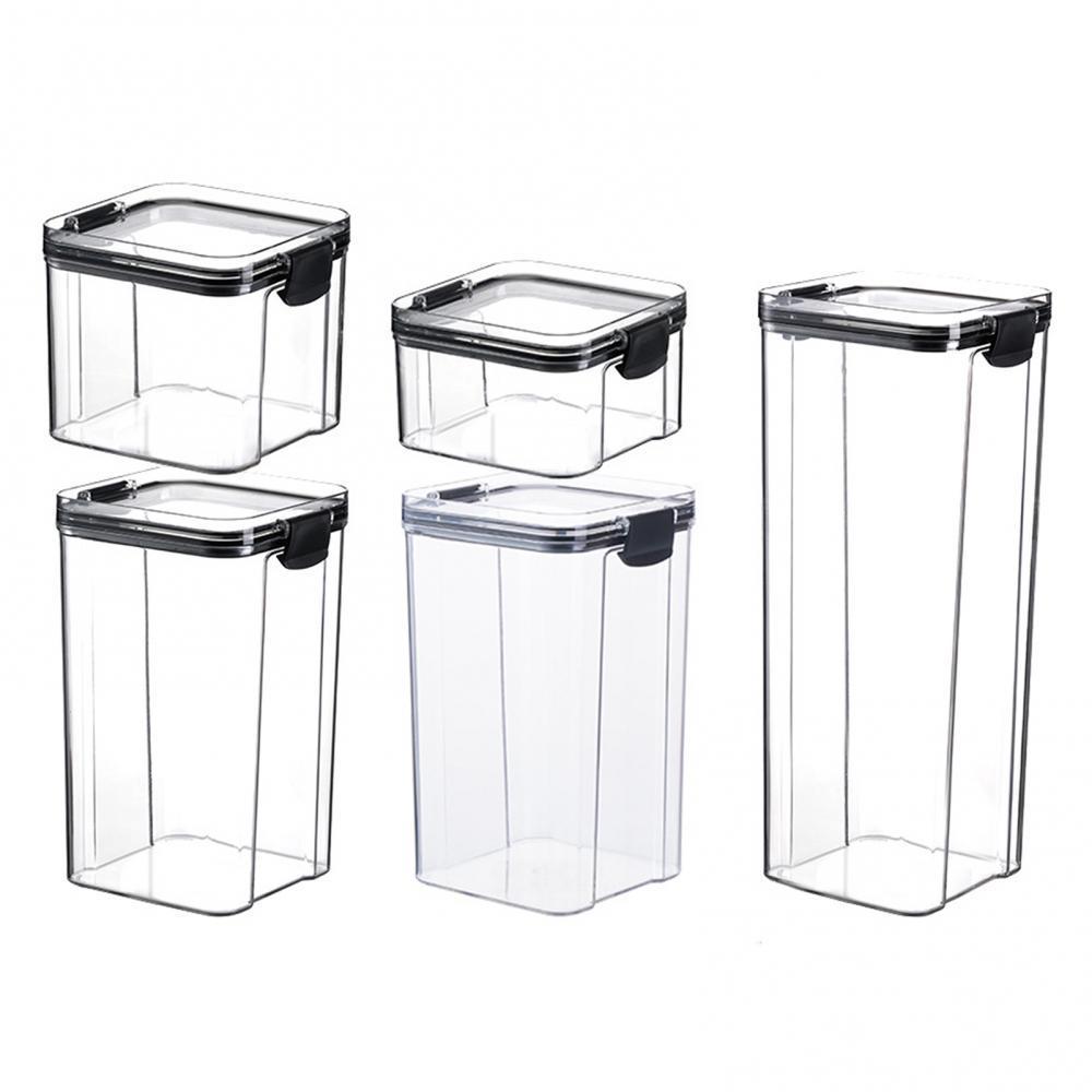 Food Storage Containers Set Kitchen Storage Organization Kitchen Storage Box Jars Ducts Storage for Kitchen PET Food Storage Box