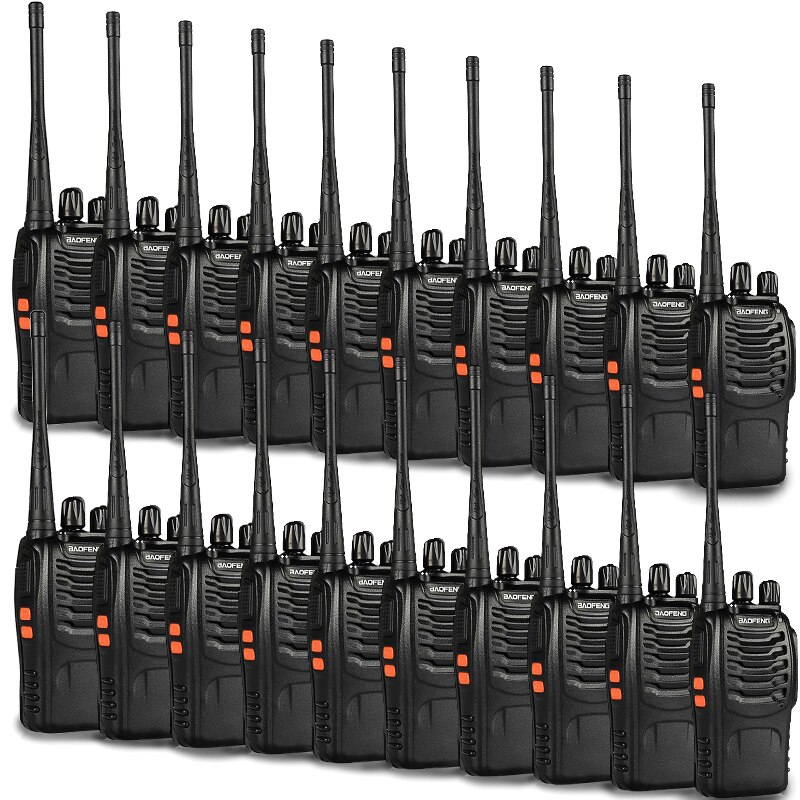 20 pcs baofeng bf-888s Walkie Talkie 16CH UHF 400-470MHz Ham Radio For 888s CB Radio 2 way Radio with Earpiece