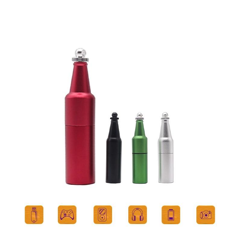 Boutique Metal Pendrive Bottle Usb Flash 128gb 64 Gb Usb Key 128 GB Memory Stick High Speed Drives Cool Gift