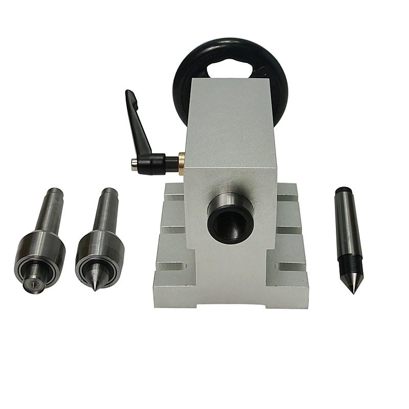 CNC tailstock Eixo 4 MT2 Máquina de Gravura do Eixo Rotativo Torno Chuck para cnc madeira gravador