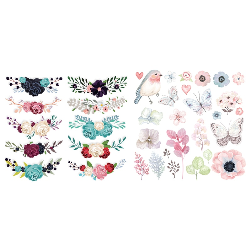 NEW Flower Thermal Transfer Patches Diy Decoration For Boys Girls Washable Clothes Butterfly
