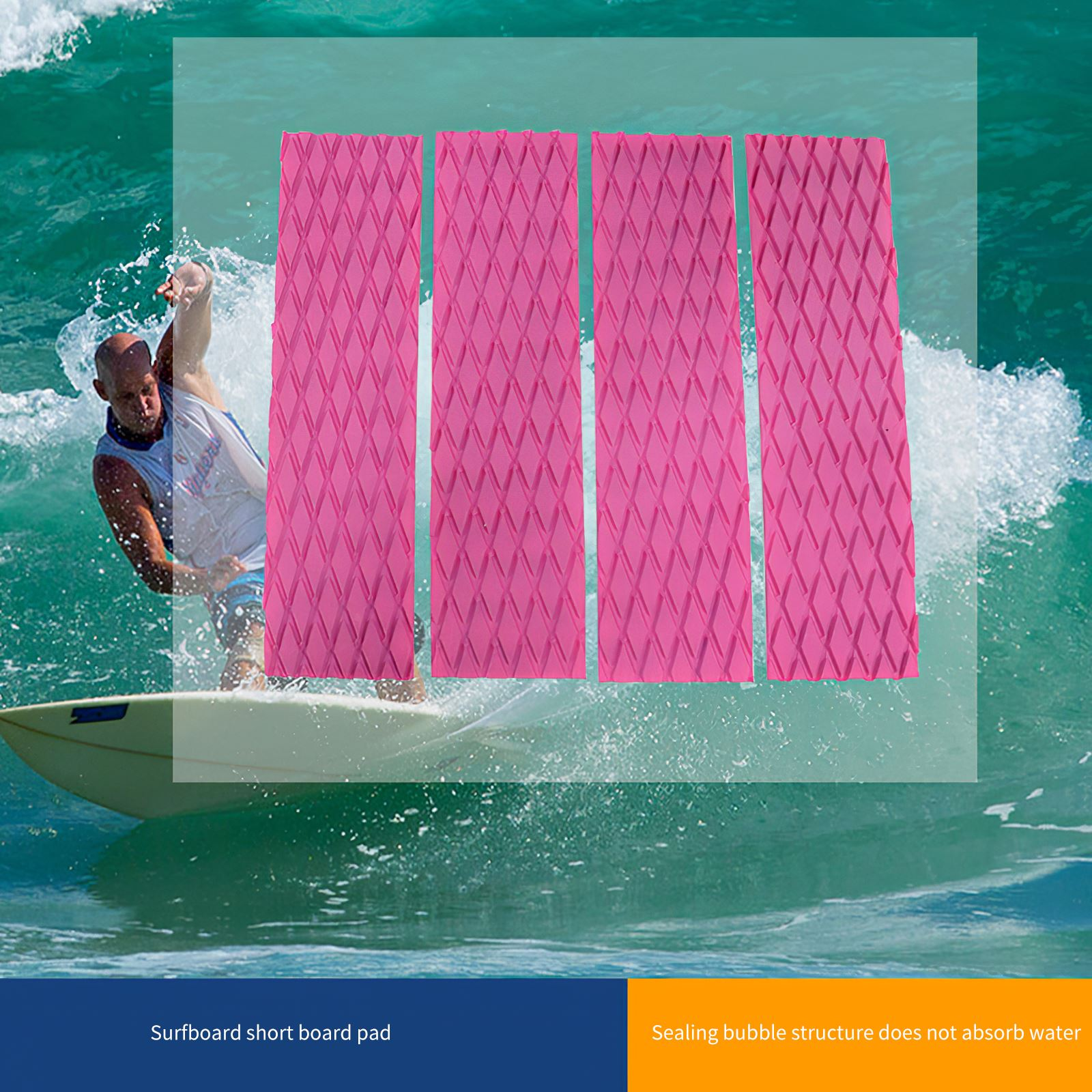Outdoor Surfboard Surf Pad Traction Non-Slip Elastic Kite Deck Water Sports Surfing Accessoires