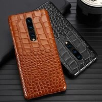 genuine leather phone case for oneplus nord 3 3t 5 5t 9 9t 7 7t 8 pro natural cowhide luxury crocodile texture cover fundas capa