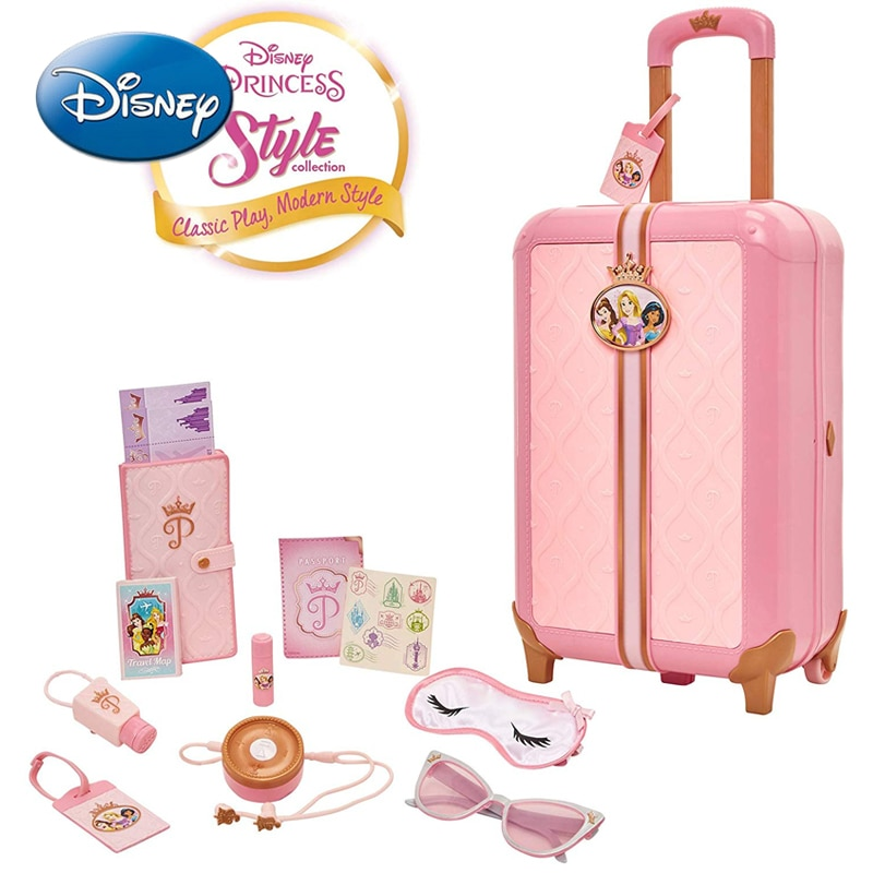The original Disney girl simulation play house toy suitcase 98872 trolley suitcase can drag children's gifts