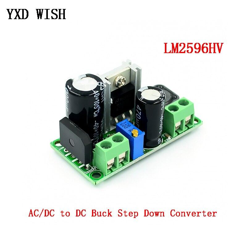 LM2596HV AC/DC ל DC באק צעד למטה ממיר מודול 3v 3.3V 5V 6V 9V 12V 15V 24V DC 5V-50V מתכוונן שלב למטה 3A אספקת חשמל