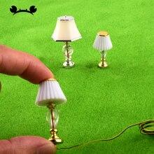 2 pièces 1/20 1/25 échelle modèle chemin de fer lampe de Table modèle lampes de bureau modèle lumières modèle de construction matériel maison de poupée meubles