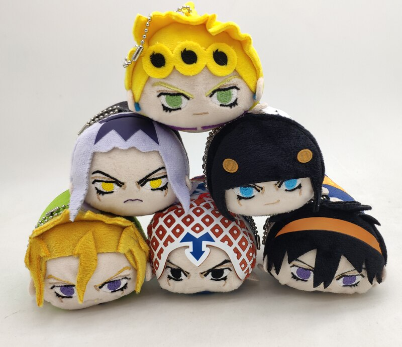 Japanese Anime JoJos Bizarre Adventure Giorno Narancia Leone Abbacchi Cosplay Plush Doll Cute Toys Pendant Christmas Gift 20cm