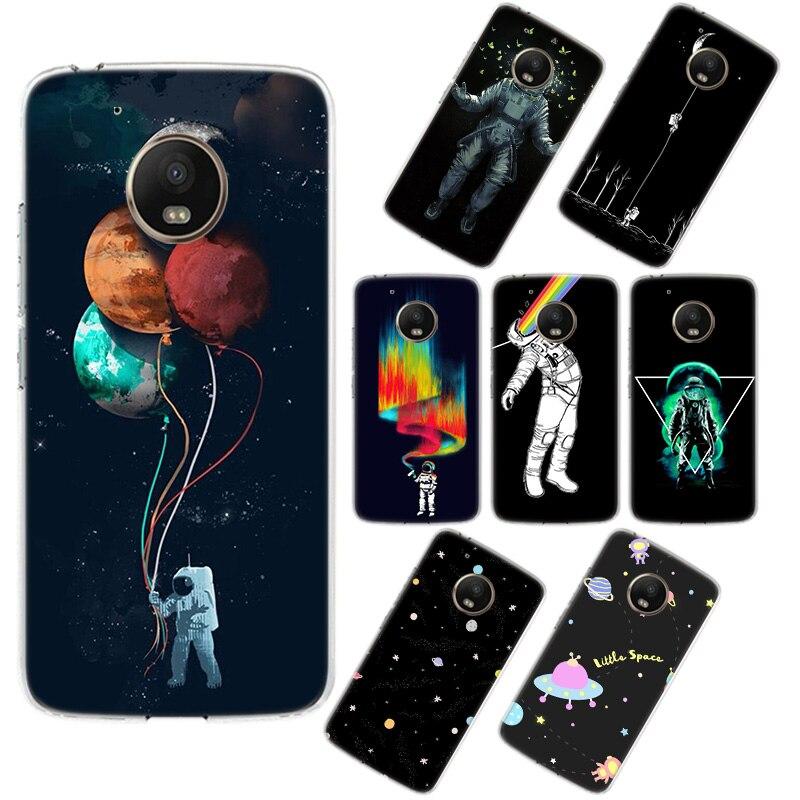 Funda de teléfono con Luna blanca para Motorola G8 G6 G5S G5 G7 para MOTO G5 G5S G7 Play G5 E6 G7 Plus G7 Power Soft TPU Coque funda trasera