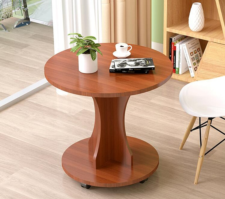 Simple modern moveable corner side table coffee table living room balcony small round table double end table