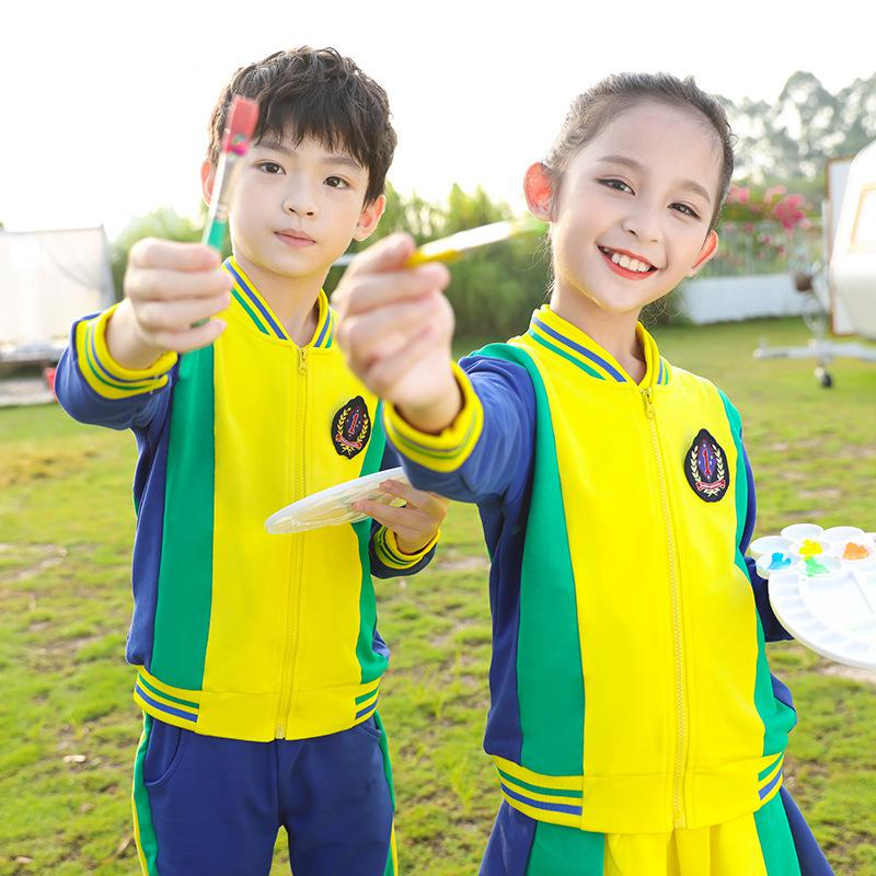 2021 Детская школьная форма, корейский Британский комплект хлопковой одежды для мальчиков и девочек, одежда для начальной школы, костюмы для ...