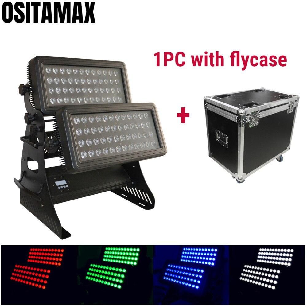IP65 extérieur 96 pièces 10w LED ville couleur lavage lumière mur rondelle lumière RGBW 4IN1 DMX512 étanche lumière dinondation bâtiment décor couleurs