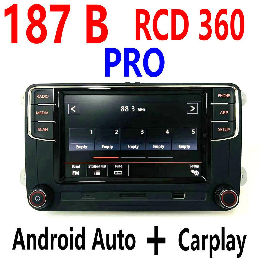 Carplay RCD360 RCD 360 MIB السيارات راديو Mirrorlink 6RD 035 187B الموالية لل جولف 5 6 جيتا MK5 MK6 بولو باسات B6 B7 CC تيغوان T