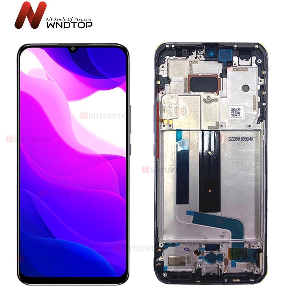 Recambio de pantalla LCD para Xiaomi Mi 10 Lite, recambio de conjunto de pantalla táctil, M2002J9G, 5G, 100% probado