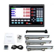2020 Nieuwe Compleet Grote Lcd Dro Kit Set Digitale Uitlezing Display Met 3 Pcs 5U Lineaire Schalen/Encoder/ sensor Lengte 50 Mm Tot 1000 Mm