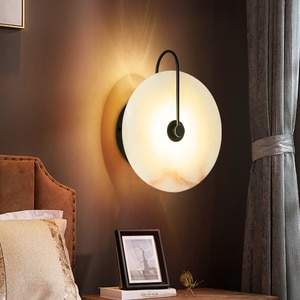 Creative Natural Marble LED Wall Lamp 16/25CM Round Unique Night Light Exquisite Corridor Aisle Lights for Simple Decor Lighting