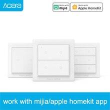 Commutateur intelligent sans fil dorigine Aqara Opple ZigBee 3.0 Version internationale fonctionne avec lapplication Mihome commutateur mural intelligent Apple HomeKit