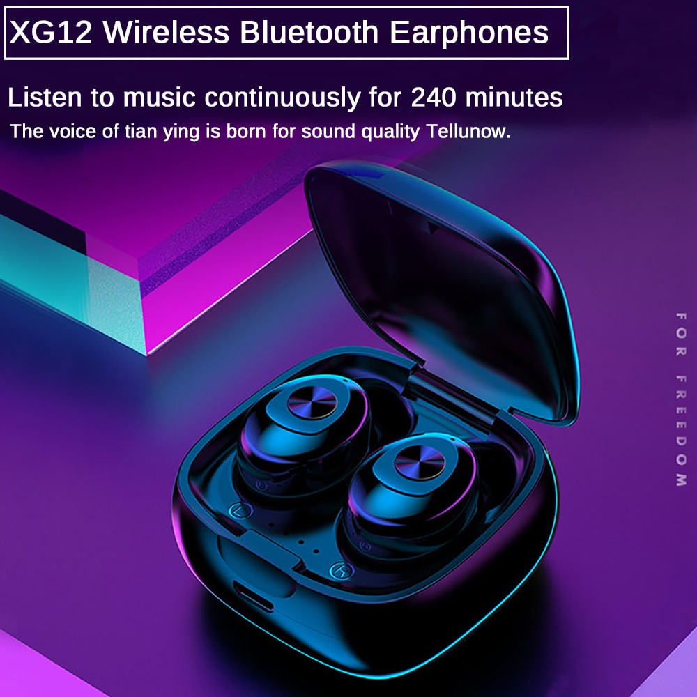 HIFI Sound Sport Bluetooth Earphones Handsfree Bluetooth 5.0 Earphone Stereo Wireless Earbus Gaming Headset with Mic for Phone enlarge