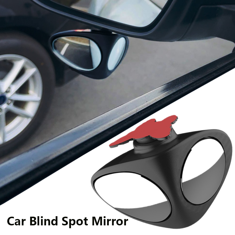 360 Degree  Adjustable Rotatable 2 Side Car Blind Spot Convex Mirror Automobile Wide Angle Exterior Parking Safety Accessories