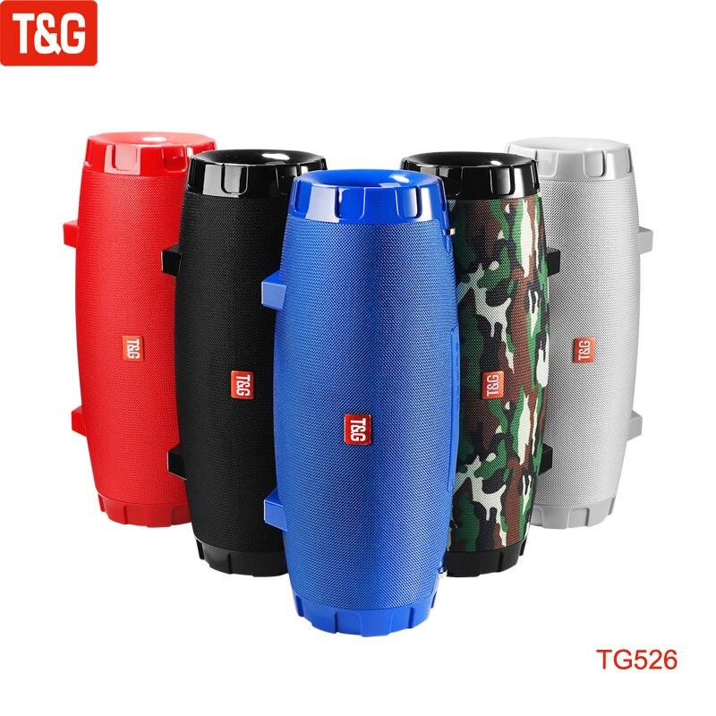 سماعات T & G TG526 كبيرة محمولة عالية الطاقة مكبرات صوت بخاصية البلوتوث العمود اللاسلكية بصوت عال مضخم صوت مقاوم للماء