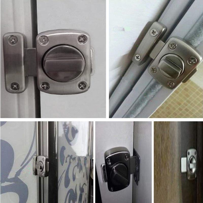 Pestillo giratorio de puerta/pestillo de noche/pestillo de puerta de baño/acabado cepillado de acero inoxidable/aplic