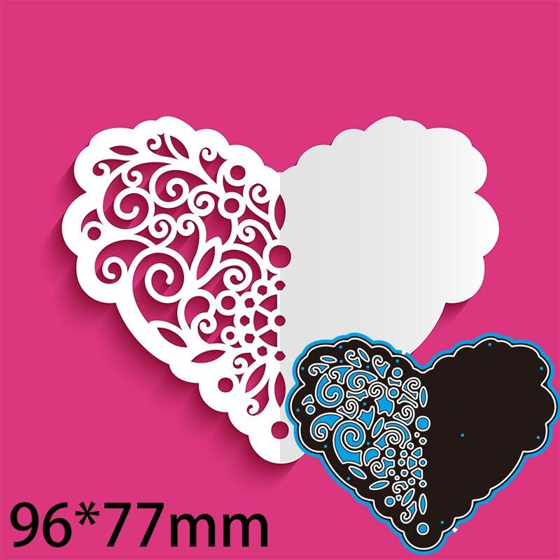 96*77mm corazón flor nueva cortadora de troqueles para álbum de recortes de...