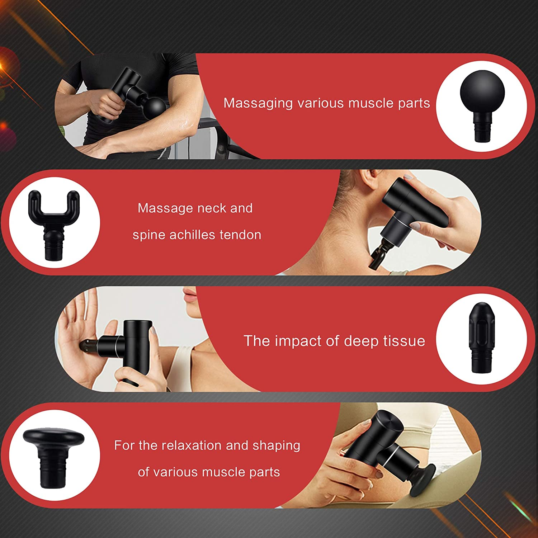 Mini Electric Massage Gun Massager For Neck Back Body Massager Muscle Vibration Relief Pain Relax Fitness Fascia Gun Massage enlarge