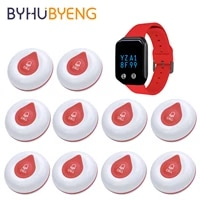 byhubyeng waterproof wireless calling system restaurant pager service button for calling in restaurant pager relogio digital