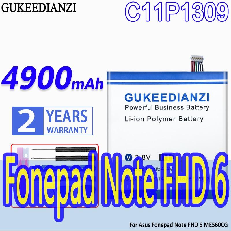 GUKEEDIANZI-Batería de 4900mAh C11P1309 para Asus Fonepad Note FHD 6 ME560CG K00G,...