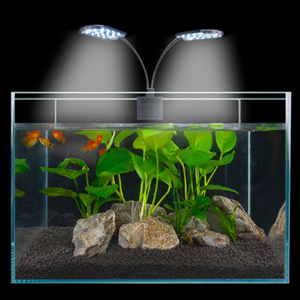 Switch on/off LED Aquarium Lights 10W White Blue Aquatic Plant Grow Light Lamps Waterproof Clip on Lamp For Fish Tank