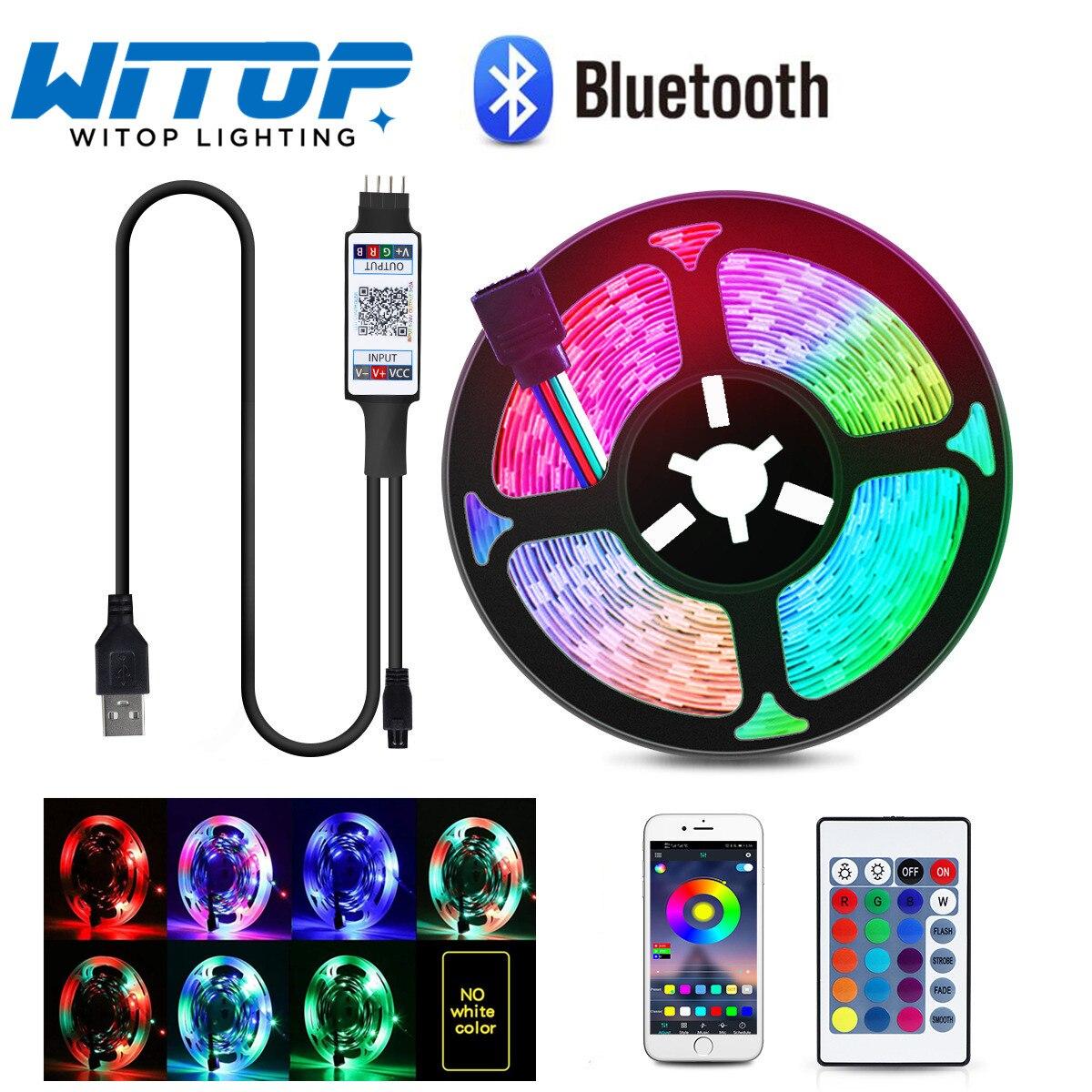 Bluetooth LED Luces de tira de cinta 1M 2M 3M 4M 5M...