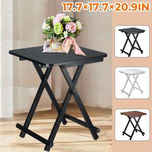 Folding Square Laptop Desk Coffee Tea Table for Living Room Storage Rack Movable Bed Side Tables Portable Corner Sofa Table