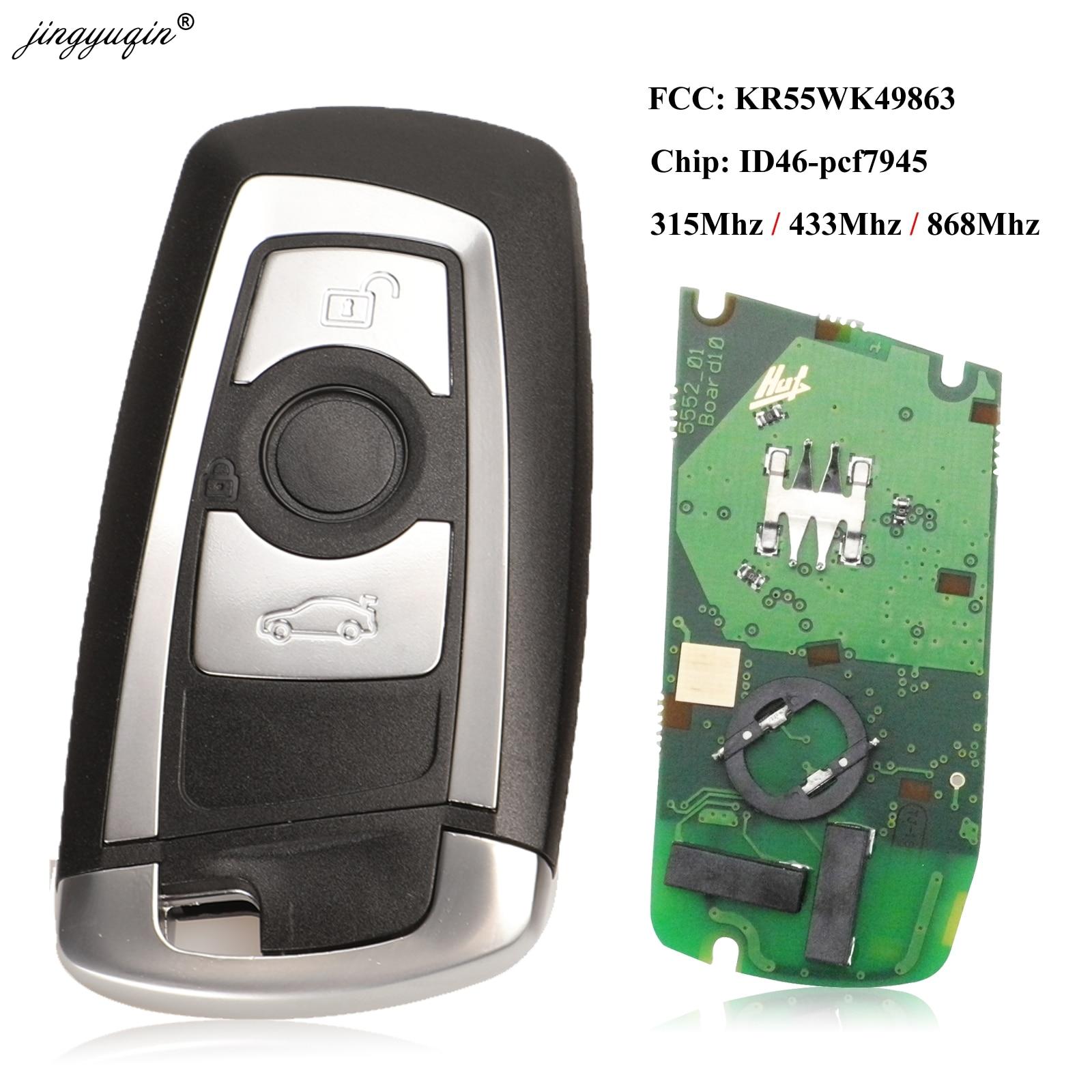 Jingyuqin 315/433/868Mhz CAS4 الذكية مفتاح بعيد Keytless الدخول ل BMW 3 5 7 سلسلة 523 528 535 550 318 320 325 328 330 PCF7945