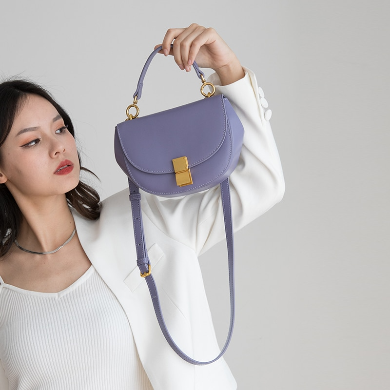 VENOF-حقيبة سرج جلدية للنساء ، حقيبة كتف كروس ، حقيبة كتف ، حقيبة يد فاخرة ، 2021