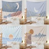 pink sun moon mandala tapestry wall hanging bohemian celestial wall tapestry hippie wall carpets dorm decor boho home decoration