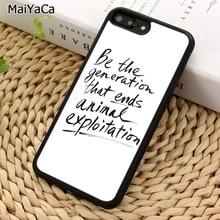 MaiYaCa Vegan Quote Veganism Phone Case For iPhone X XR XS 11 Pro MAX 5 6 6S 7 8 Plus Samsung Galaxy S5 S6 S7edge S8 S9 S10