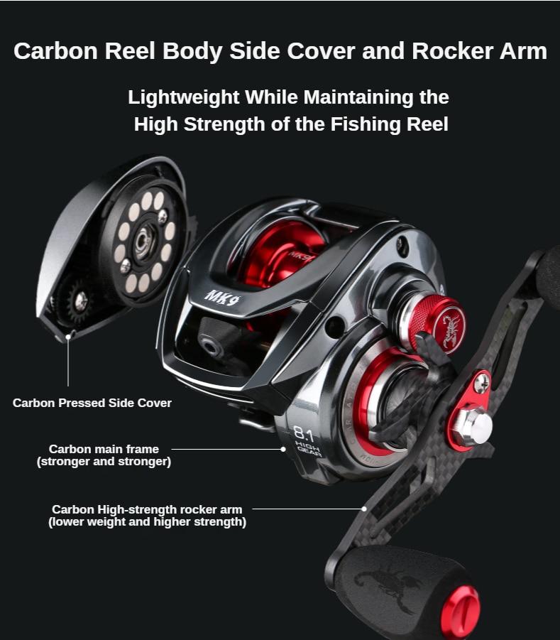 PURELURE  Ultralight Baitcasting Fishing Reels  Drag 8.1:1 High Speed Salt&Fresh Water Casting Reel Fishing Coil enlarge