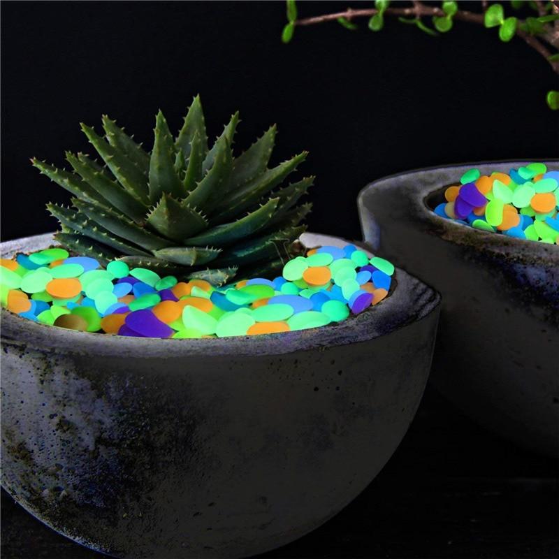 Красочные светящиеся камни, светящиеся в темноте дорожки, растения, аквариум, украшение для аквариума, светящиеся камни садовые камни, укра...