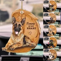 cute pet dog pendant car rearview mirror hanging ornaments puppy decoration gifts auto pendants charms