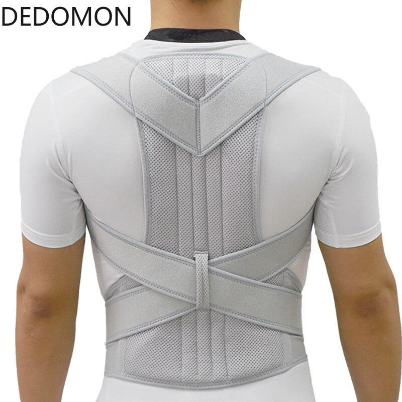 Corsé de plata Corrector de postura Scoliosis tirantes para espalda y columna vertebral cinturón para terapia de hombro cinturón de corrección de postura pobre hombres