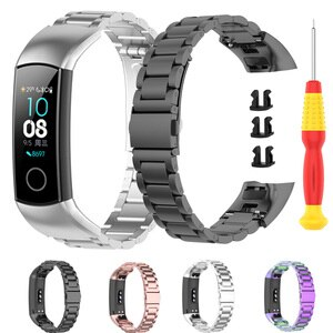 For Huawei Honor Band 5 Strap Smart Bracelet Stainless Steel Watch Band Replacemen Watchband Wristband For Honor Band 4 ремешок