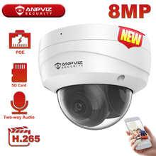 Купольная IP-камера Anpviz, 8 Мп, 4K, наружная ИК-камера безопасности, диапазон 30 м, Видеонаблюдение CCTV, Hikvision OEM IP67, до 256 ГБ, хранилище H.265 +