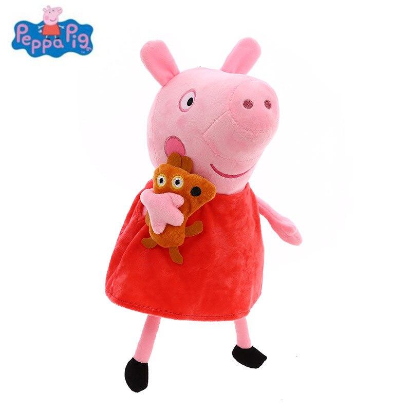 Лидер продаж, милая мультяшная свинья, семейная упаковка, 25 см, плюшевые игрушки, животные, мягкая кукла, детские подарки на день рождения