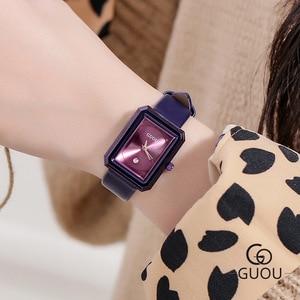 New Purple Small Dial Rectangle Women Watches Fashion Women Bracelet Quartz Watch Ladies Casual Thin WatchWatch Drop Shipping
