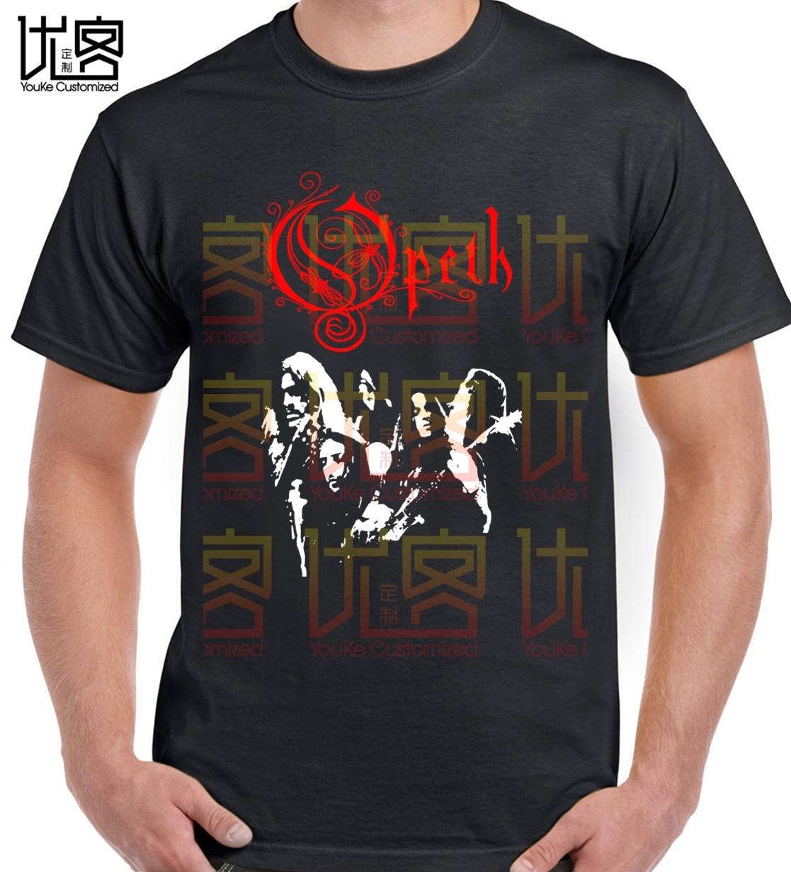 Camiseta opeth logo vermelho regata Tops algodón verano Camisetas cuello redondo camiseta increíble manga corta única