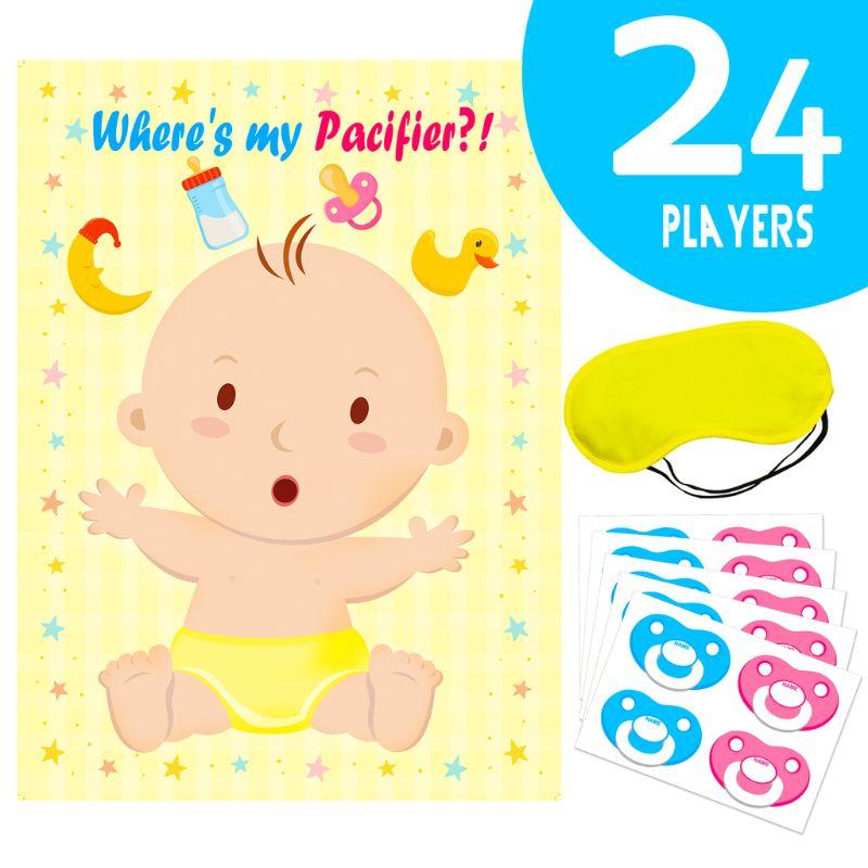 Наденьте соску на детскую игру, украшения для детского праздника, товары для детского дня рождения, постер для больших игр для будущей мамы ...
