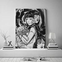 home decor canvas uzumaki junji ito fanart pictures wall art paintings prints modern horror anime modular poster for living room