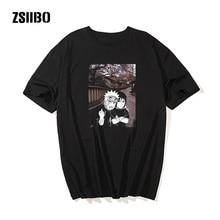 Camiseta de manga corta Unisex fresca de Harajuku de verano de Naruto, camiseta de Anime japonés con estampado divertido, camisetas de dibujos animados